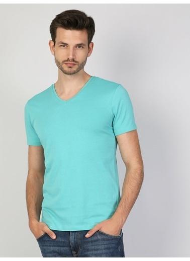 Colin's V Yaka T-Shirt Yeşil